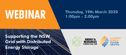Free live webinar to explore Supporting the NSW Grid with Distributed Energy Storage