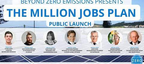 Beyond Zero Emissions Launch The Million Jobs Plan